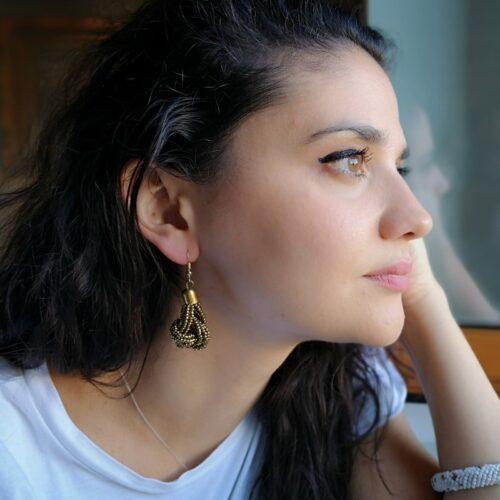 Banou Earrings Golden Model01