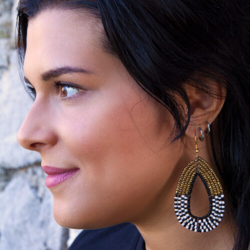 Nea-Earrings-Golden-Zebra-Model01